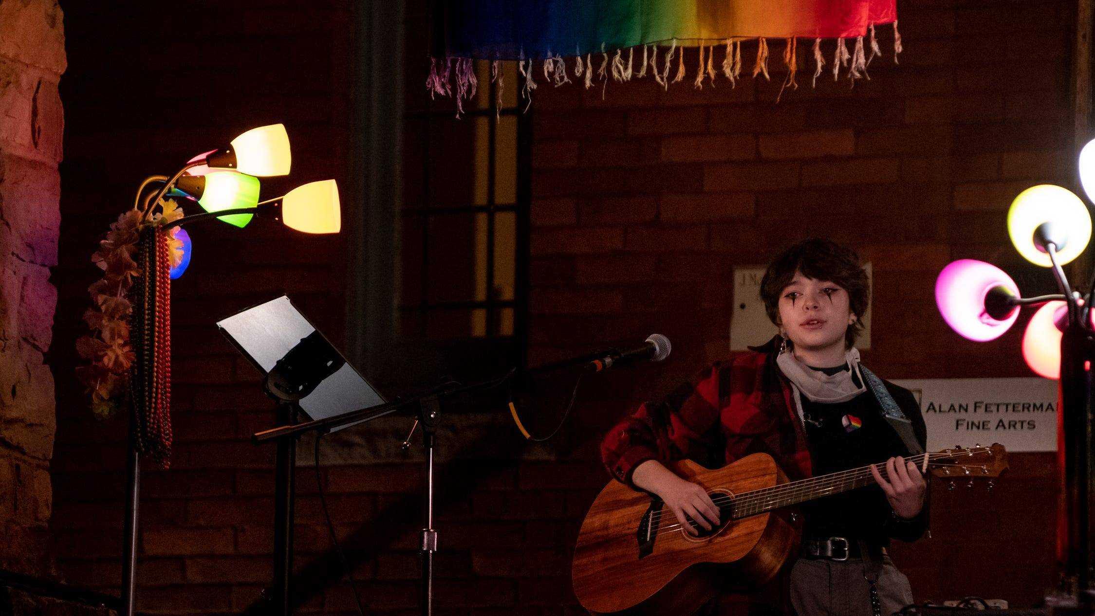 Rowan Hara, 16, from Lambertville, sings the song