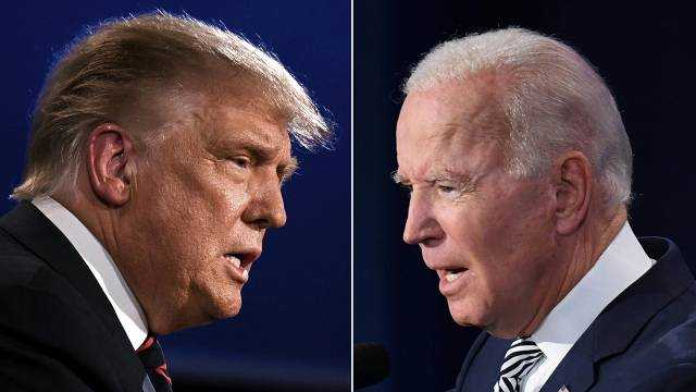 Donald Trump and Joe Biden during their first presidential debate in September 2020 (Jim Watson and Saul Loeb / AFP)